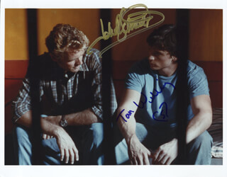 SMALLVILLE TV CAST - AUTOGRAPHED SIGNED PHOTOGRAPH CO-SIGNED BY: JOHN SCHNEIDER, TOM WELLING