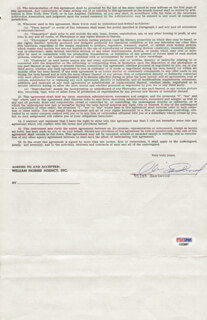 CLINT EASTWOOD - CONTRACT SIGNED 01/11/1973