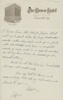ROSCOE FATTY ARBUCKLE - AUTOGRAPH LETTER SIGNED 09/24/1924