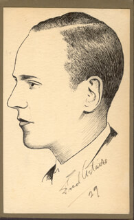 ROBERT L WHITTINGTON - ORIGINAL ART UNSIGNED 1929 BUT SIGNED BY FRED ASTAIRE