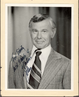 JOHNNY CARSON - AUTOGRAPHED INSCRIBED PHOTOGRAPH
