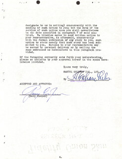 GARY COOPER - DOCUMENT SIGNED 02/18/1936