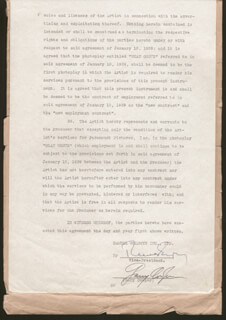 GARY COOPER - CONTRACT SIGNED 05/02/1939