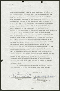 KATHARINE HEPBURN - CONTRACT SIGNED 09/01/1955