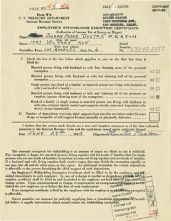 BUSTER KEATON - DOCUMENT SIGNED 06/24/1943