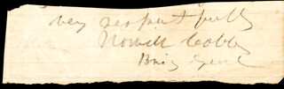 Autographs: MAJOR GENERAL HOWELL COBB - SIGNATURE(S)