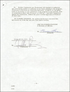 FREDDIE PRINZE - CONTRACT SIGNED 07/16/1975