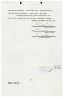 Autographs: PRESIDENT RONALD REAGAN - CONTRACT SIGNED 10/26/1949
