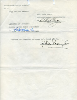 IRVING THALBERG - TYPED LETTER SIGNED 12/15/1924 CO-SIGNED BY: AILEEN PRINGLE