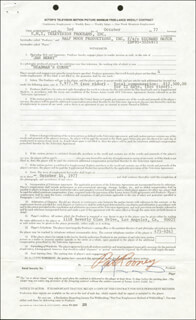 RICHARD HATCH - CONTRACT SIGNED 10/03/1977 CO-SIGNED BY: PAT ROONEY