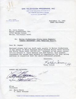 LARRY HAGMAN - CONTRACT SIGNED 09/15/1982