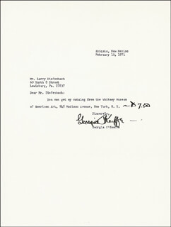 GEORGIA O'KEEFFE - TYPED LETTER SIGNED 02/16/1971