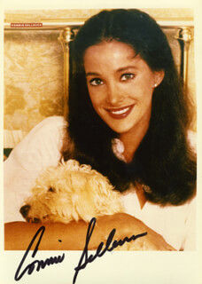 CONNIE SELLECCA - AUTOGRAPHED SIGNED PHOTOGRAPH