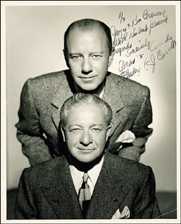 Autographs: THE AMOS 'N' ANDY RADIO CAST - INSCRIBED PHOTOGRAPH SIGNED CO-SIGNED BY: CHARLES ANDY CORRELL, FREEMAN AMOS GOSDEN