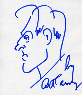 Autographs: ART CARNEY - SELF-CARICATURE SIGNED