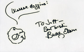 BUDDY EBSEN - INSCRIBED SELF-CARICATURE SIGNED