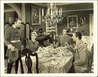 DARK COMMAND MOVIE CAST - INSCRIBED PHOTOGRAPH SIGNED CO-SIGNED BY: WALTER PIDGEON, CLAIRE TREVOR, ROY ROGERS, JOHN