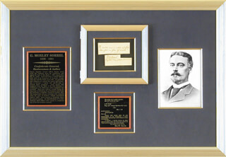 Autographs: BRIGADIER GENERAL GILBERT MOXLEY SORREL - AUTOGRAPH QUOTATION SIGNED 1895