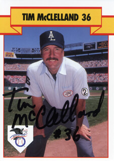 TIM McCLELLAND - TRADING/SPORTS CARD SIGNED