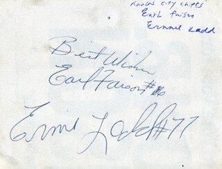 Autographs: ERNIE LADD - SIGNATURE(S) CO-SIGNED BY: EARL FAISON