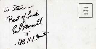 EARL MORRALL - AUTOGRAPH NOTE SIGNED