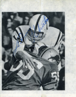 JOHNNY UNITAS - MAGAZINE PHOTOGRAPH SIGNED