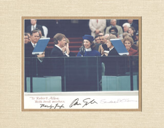 VICE PRESIDENT DAN (JAMES DANFORTH) QUAYLE - AUTOGRAPHED INSCRIBED PHOTOGRAPH CO-SIGNED BY: MARILYN QUAYLE, ASSOCIATE JUSTICE SANDRA DAY O'CONNOR