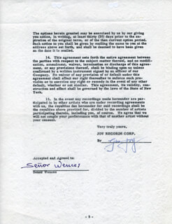SEÑOR WENCES - DOCUMENT SIGNED 11/18/1958