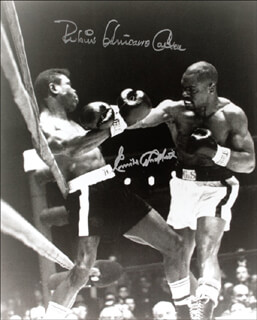 RUBIN HURRICANE CARTER - AUTOGRAPHED SIGNED PHOTOGRAPH CO-SIGNED BY: EMILE GRIFFITH
