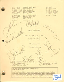 HIGH INCIDENT TV CAST - SCRIPT SIGNED CO-SIGNED BY: BLAIR UNDERWOOD, DAVID KEITH, MATT CRAVEN, COLE HAUSER, LOUIS MUSTILLO, LINDSAY FROST