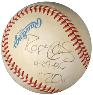 ROGER CLEMENS - AUTOGRAPHED SIGNED BASEBALL 04/29/1986