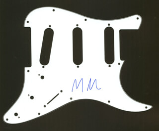 MARILYN MANSON - PICK GUARD SIGNED