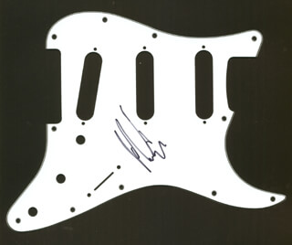 KORN (JAMES CHRISTIAN MUNKY SHAFFER) - PICK GUARD SIGNED