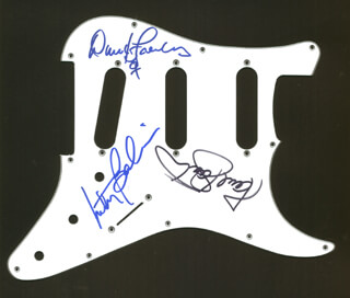JEFFERSON AIRPLANE - PICK GUARD SIGNED CO-SIGNED BY: JEFFERSON AIRPLANE (MARTY BALIN), JEFFERSON AIRPLANE (PAUL KANTNER), JEFFERSON AIRPLANE (DAVID FREIBERG)