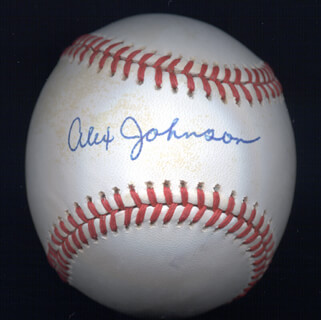 Autographs: ALEX JOHNSON - BASEBALL SIGNED