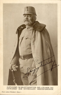 Autographs: ARCHDUKE FRIEDRICH (AUSTRIA) (DUKE OF TESCHEN) - PICTURE POST CARD SIGNED CIRCA 1915