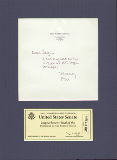 PRESIDENT WILLIAM J. BILL CLINTON - AUTOGRAPH LETTER SIGNED 06/05/1998