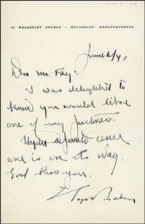 ROGER BABSON - AUTOGRAPH LETTER SIGNED 06/06/1941
