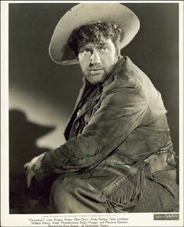 ANDY DEVINE - INSCRIBED PRINTED PHOTOGRAPH SIGNED IN INK