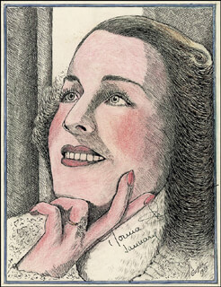 NORMA SHEARER - ORIGINAL ART SIGNED 01/1940 CO-SIGNED BY: GRIFFITH