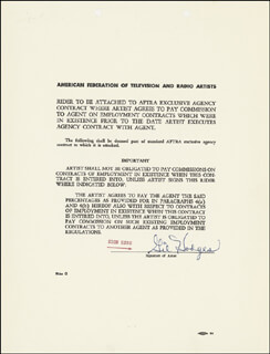 Autographs: GIL HODGES - DOCUMENT SIGNED