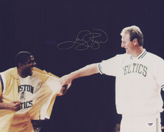 LARRY BIRD - AUTOGRAPHED SIGNED PHOTOGRAPH