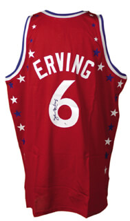 JULIUS DR. J. ERVING - JERSEY SIGNED
