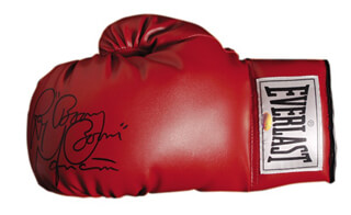 RAY BOOM BOOM MANCINI - BOXING GLOVE SIGNED
