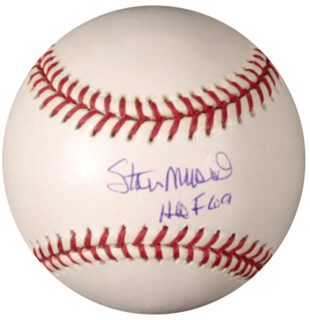 STAN THE MAN MUSIAL - AUTOGRAPHED SIGNED BASEBALL