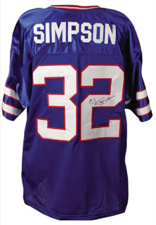 Autographs: O. J. SIMPSON - JERSEY SIGNED