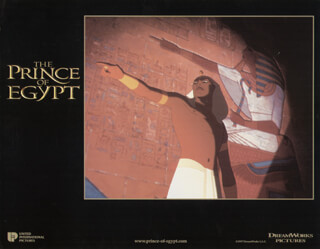 PRINCE OF EGYPT MOVIE CAST - LOBBY CARD UNSIGNED (USA) 1998