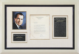 PRESIDENT RICHARD M. NIXON - TYPED LETTER SIGNED 07/26/1950