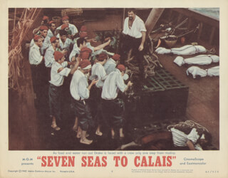 SEVEN SEAS TO CALAIS MOVIE CAST - LOBBY CARD UNSIGNED (USA) 1962