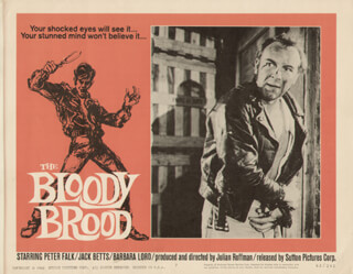 THE BLOODY BROOD MOVIE CAST - LOBBY CARD UNSIGNED (USA) 1959